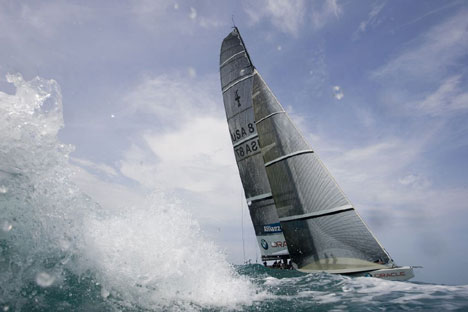 America s Cup Boat BMW Oracle
